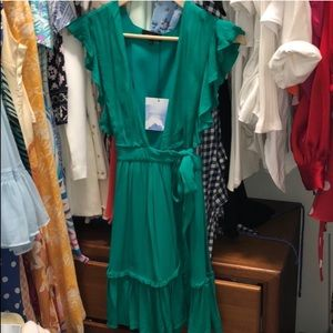 MAJORELLE Dresses - NEW Majorelle Revolve green misty wrap dress XXS